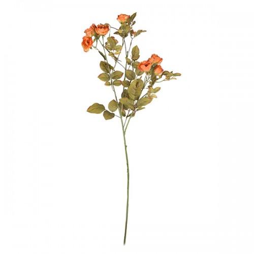 Искусственная Роза кустовая оранжевая 95 см