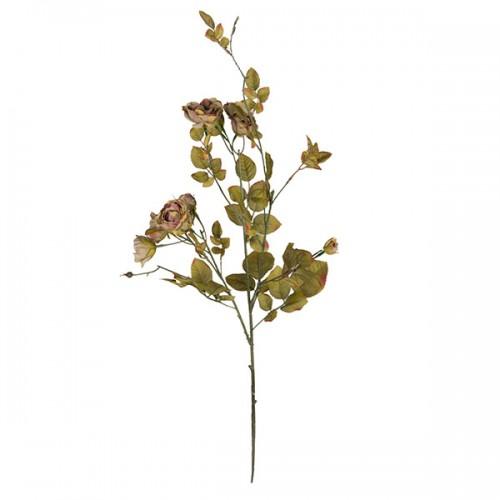 Искусственная Роза кустовая зелёная 95 см