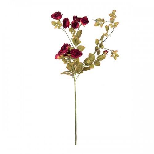 Искусственная Роза кустовая красная 95 см