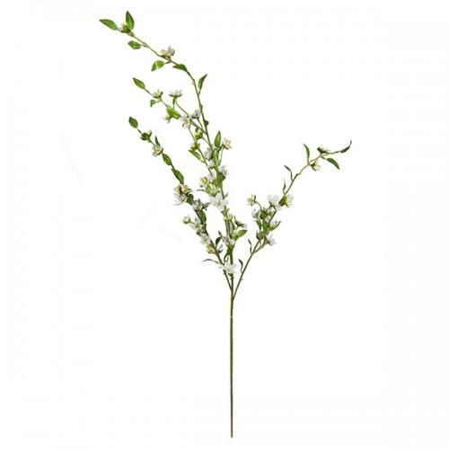 Ветка цветущая белая искусственная 110 см