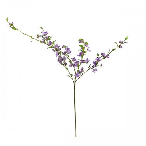 Ветка цветущая сиреневая искусственная 110 см