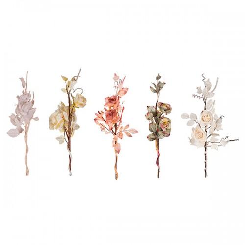 Ветка Розы декоративная 64 см