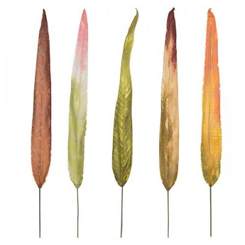 Лист ланцетовидный искусственный 75 см