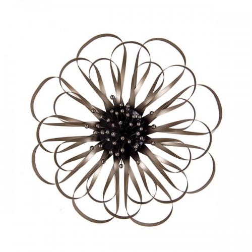 Настенное металлическое украшение Цветок 51х51 см
