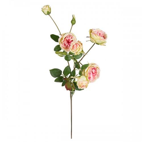 Искусственная ветка Цветущая роза 58 см