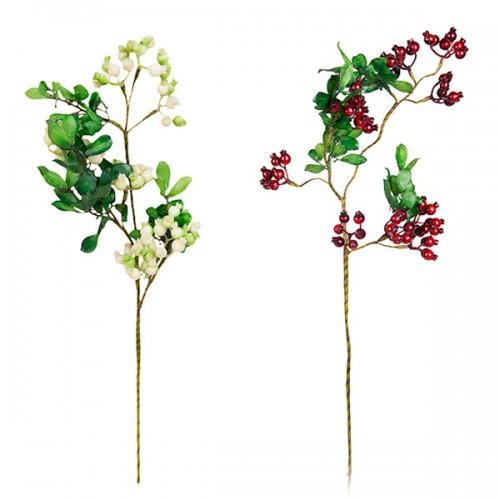 Ветка Боярышника с ягодами искусственная 76 см