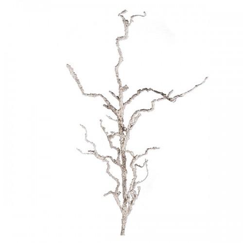 Ветка декорированная белая 140 см