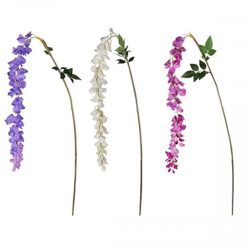 Искусственные цветы Ветка Глицинии 187 см
