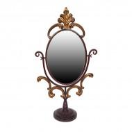 Зеркало настольное металлическое 72х38х16 см