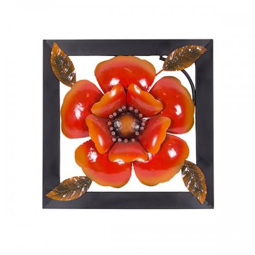 Панно металлическое Цветок 40х40 см