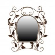 Зеркало настольное металлическое 42х36 см