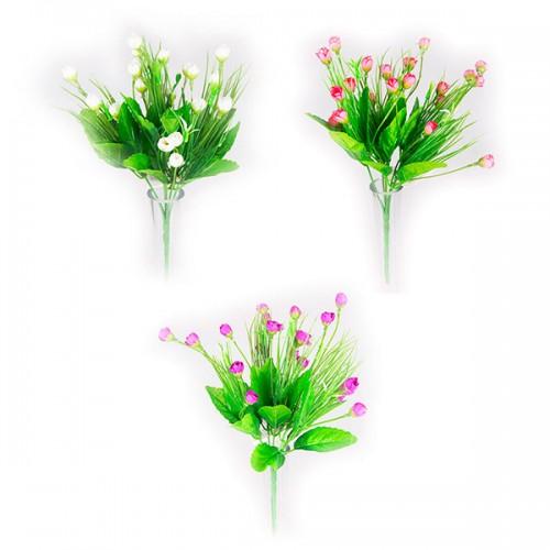 Букет светлых искусственных цветов 33 см