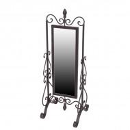 Зеркало настольное металлическое 56х20 см