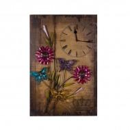 Панно Часы с цветами 59х38 см