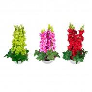 Букет искусственных цветов в вазе 44х24 см