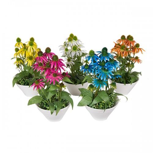 Букет искусственных цветов в вазе 42х21 см