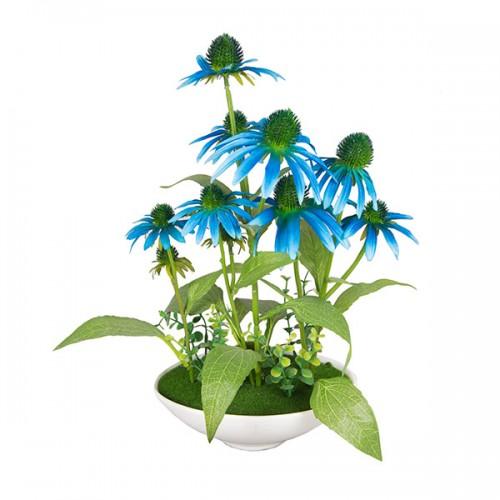 Букет искусственных цветов в вазе 38х20 см