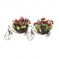 Композиция Велосипед с цветами