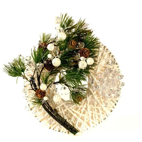 Композиция новогодняясо свечой