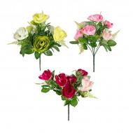 Букет из искусственных роз Ассорти 29 см