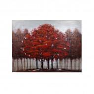 Картина на дереве Осенний лес 91х122 см