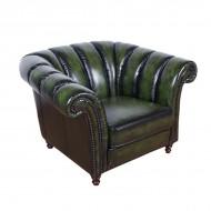 Кресло AY Lazzaro кожаное 120х108х79 см зелёное