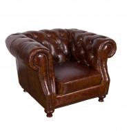 Кресло AY Lazzaro кожаное 117х108х79 см