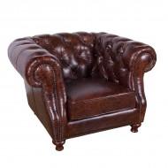 Кресло AY Lazzaro кожаное 11х108х79 см