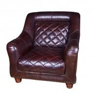 Кресло AY Lazzaro кожаное 100х96х90 см