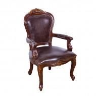 Кресло AY Lazzaro кожаное 106х66х60 см