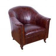 Кресло AY Lazzaro кожаное 84х81х79 см