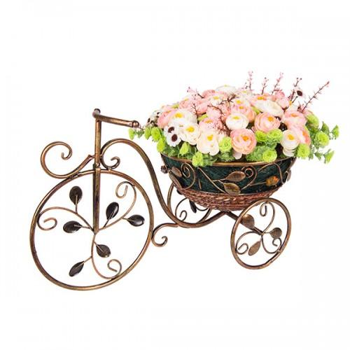 Композиция Велосипед с розами 33х60 см