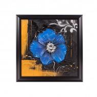 Панно настенное Цветок 45х45 см голубой