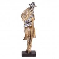 Статуэтка Музыкант с саксофоном 27.5х8х6 см