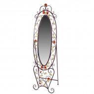 Зеркало напольное металлическое 190х62 см