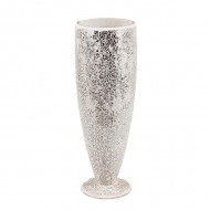 Ваза для цветов мозаика серебро 40 см