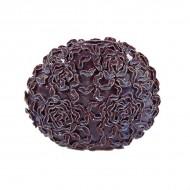 Ваза напольная декоративная фиолетовая 40 см