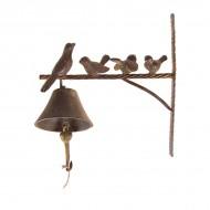 Колокольчик с птицами металлический 38х30х12 см