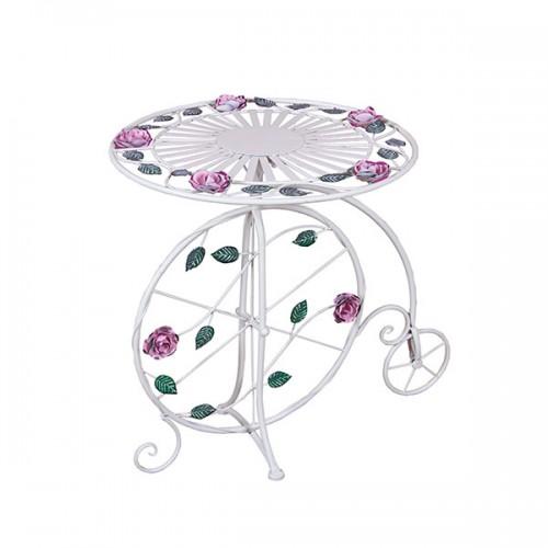 Столик-велосипед садовый металлический 69х57 см
