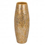 Ваза для цветов мозаика золотистая 39,5 см