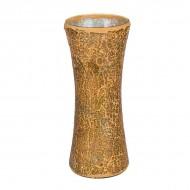 Ваза для цветов мозаика золотистая 30 см