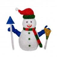 Новогоднее украшение Снеговик с гирляндой 110 см
