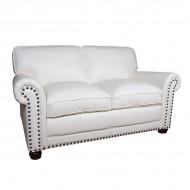 Диван AY Lazzaro двухместный кожаный 165х100х90 см белый