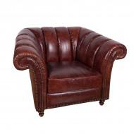 Кресло AY Lazzaro кожаное 120х100х75 см