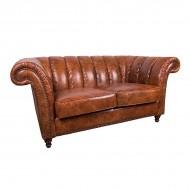 Диван AY Lazzaro двухместный кожаный 175х100х80 см