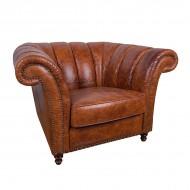 Кресло AY Lazzaro кожаное 110х100х78 см