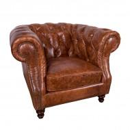Кресло AY Lazzaro кожаное 110х100х80 см