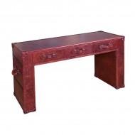 Стол-тумба AY Lazzaro из кожи для кабинета 155х78х50 см