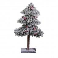 Дерево искусственное Елка в снегу с рябиной 120 см