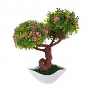 Дерево искусственное Бонсай цветущий 19,5 см
